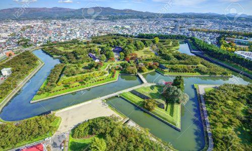 18653956-goryokaku-park-in-hakodate-hokkaido-japan-was-originally-a-star-fort-designed-in-1855-